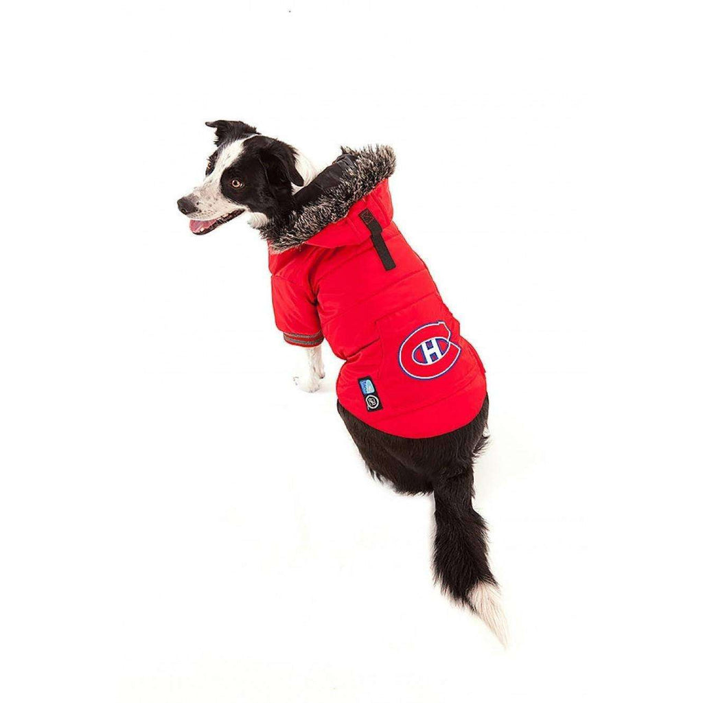 NHL Yukon Parka Montreal Canadiens Dog Clothing [variant_title] [option1] - PetMax.ca