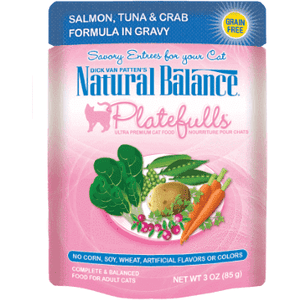 Natural Balance Platefulls Salmon, Tuna & Crab  Canned Cat Food - PetMax