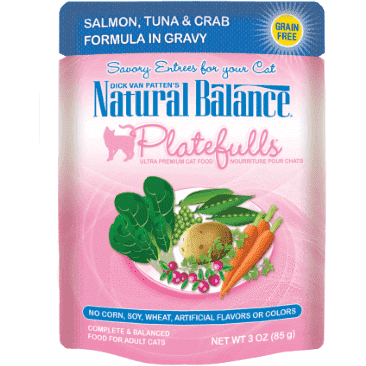 Natural Balance Platefulls Salmon, Tuna & Crab Wet Cat Food  Canned Cat Food - PetMax