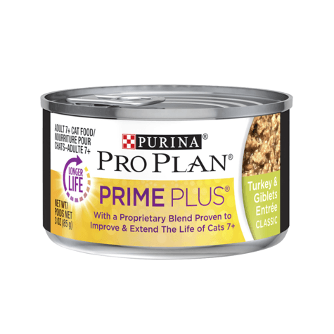 Pro Plan Canned Cat Food Prime Plus Adult Turkey & Giblets  Canned Cat Food - PetMax