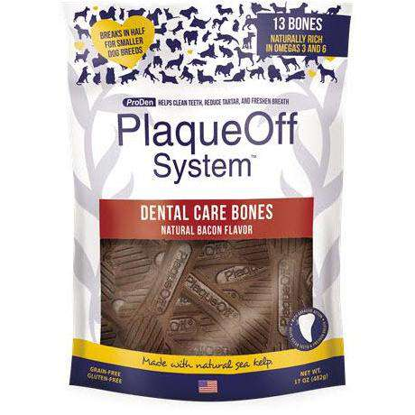 PlaqueOff System Dental Bacon Bones  Dog Treats - PetMax