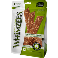 Whimzees Edible Dental Dog Chew Veggie Strip 12 Pack - Bag Chew Products - PetMax