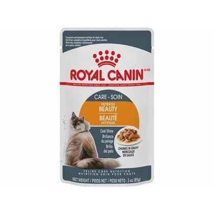 Royal Canin Cat Pouches Chunks In Gravy Adult Intense Beauty  Canned Cat Food - PetMax