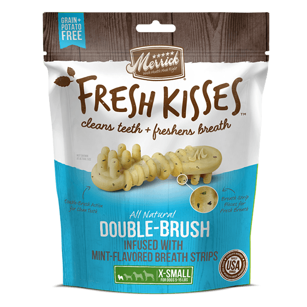 Merrick Fresh Kisses Mint Brush - Bag X-Small Dog Treats - PetMax