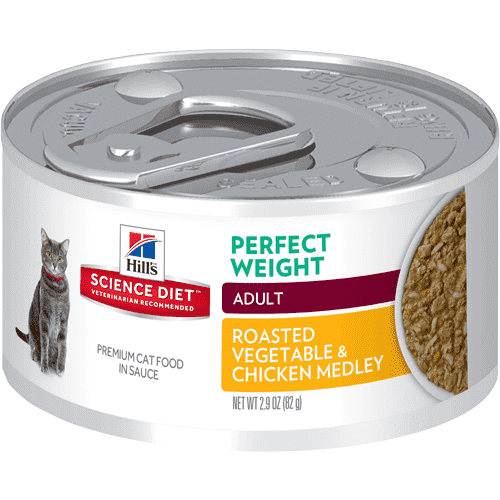 Science Diet Canned Cat Food Perfect Weight Roasted Vegetable & Chicken  Canned Cat Food - PetMax