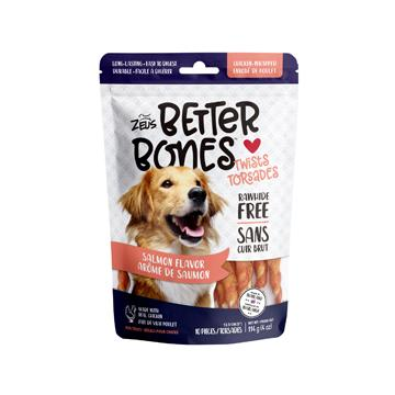 Zeus Better Bones Chicken Wrapped Twists Salmon Dog Treats [variant_title] [option1] - PetMax.ca