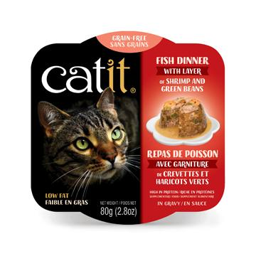 CatIt Wet Cat Food Fish Dinner With Shrimp & Green Beans Canned Cat Food [variant_title] [option1] - PetMax.ca