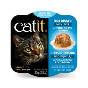 CatIt Wet Cat Food Fish Dinner With Whitefish & Pumpkin Canned Cat Food [variant_title] [option1] - PetMax.ca