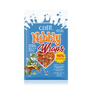 Catit Nibbly Wraps Treats Chicken & Fish  Cat Treats - PetMax
