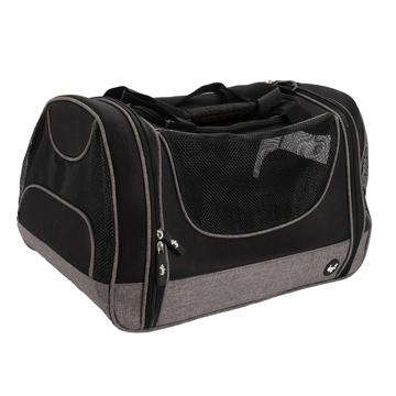 DogIt Explorer Soft Tote Bag Grey & Black  Cages And Kennels - PetMax