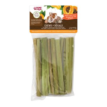 Living World Small Animal Chew Sugar Cane Stalk Cubes  Small Animal Chew Products - PetMax