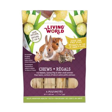 Living World Small Animal Chew Sugar Cane Stalk Sticks  Small Animal Chew Products - PetMax