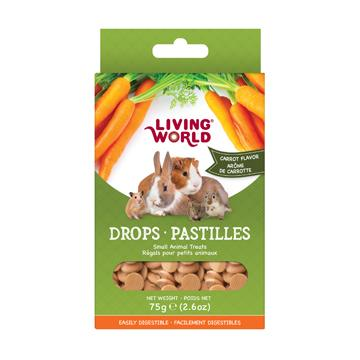 Living World Small Animal Drops Carrot  Small Animal Food Treats - PetMax
