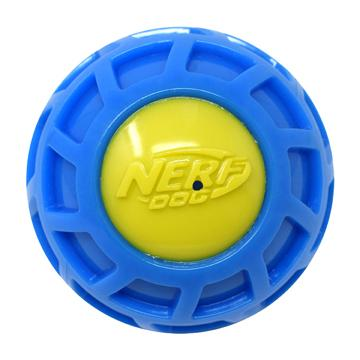 Nerf Micro Squeak Exo Ball Blue & Green  Dog Toys - PetMax