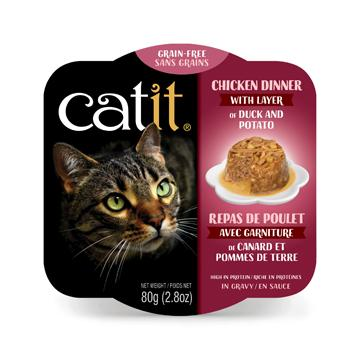 CatIt Wet Cat Food Chicken Dinner With Duck & Potato Canned Cat Food [variant_title] [option1] - PetMax.ca