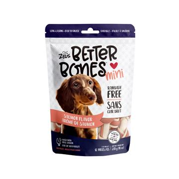 Zeus Better Bones Bone Salmon Flavour Dog Treats [variant_title] [option1] - PetMax.ca