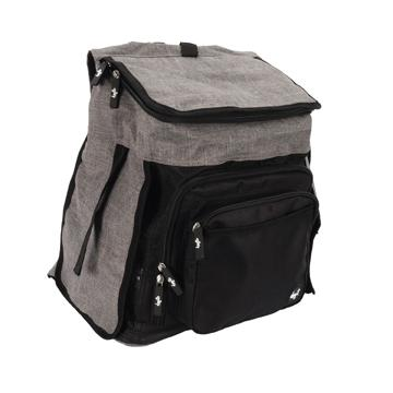 DogIt Explorer Soft Backpack Grey & Black  Cages And Kennels - PetMax