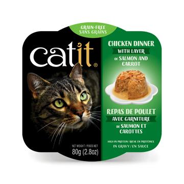 CatIt Wet Cat Food Chicken Dinner With Salmon & Carrot Canned Cat Food [variant_title] [option1] - PetMax.ca