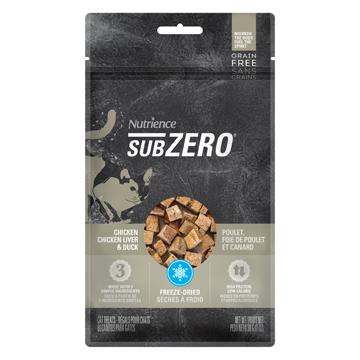 Nutrience Grain Free Subzero Fraser Valley Cat Treats Chicken, Chicken Liver & Duck Liver  Cat Treats - PetMax