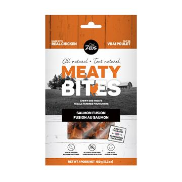 Zeus Meaty Bites Salmon Fusion Dog Treats  Dog Treats - PetMax