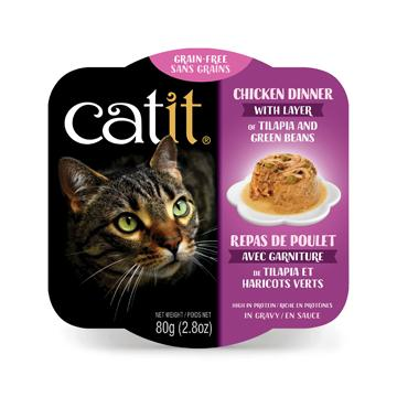 CatIt Wet Cat Food Chicken Dinner With Tilapia & Green Beans Canned Cat Food [variant_title] [option1] - PetMax.ca