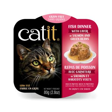 CatIt Wet Cat Food Fish Dinner With Salmon & Green Beans  Canned Cat Food - PetMax