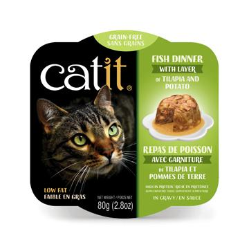 CatIt Wet Cat Food Fish Dinner With Tilapia & Potato Canned Cat Food [variant_title] [option1] - PetMax.ca