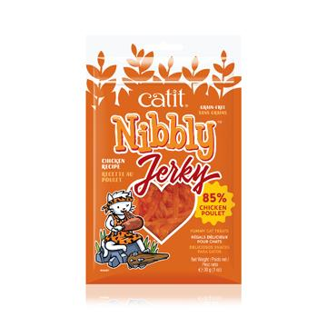 Catit Nibbly Jerky Treats Chicken  Cat Treats - PetMax