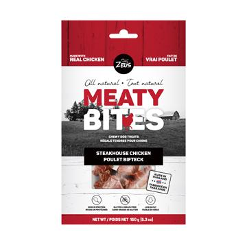 Zeus Meaty Bites Steakhouse Chicken Dog Treats  Dog Treats - PetMax