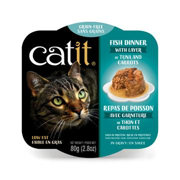 CatIt Wet Cat Food Fish Dinner With Tuna & Carrot  Canned Cat Food - PetMax