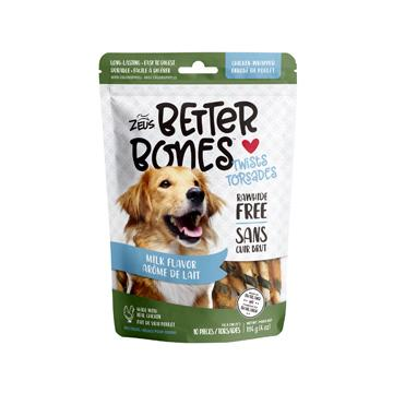 Zeus Better Bones Chicken Wrapped Twists Milk | Dog Treats -  pet-max.myshopify.com