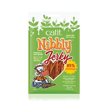 Catit Nibbly Jerky Treats Chicken & Fish  Cat Treats - PetMax