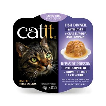 CatIt Wet Cat Food Fish Dinner With Crab Flavour & Pumpkin  Canned Cat Food - PetMax