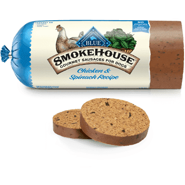 Blue Smokehouse Sausage Chicken & Spinach, Canned Dog Food, Blue Buffalo Company - PetMax