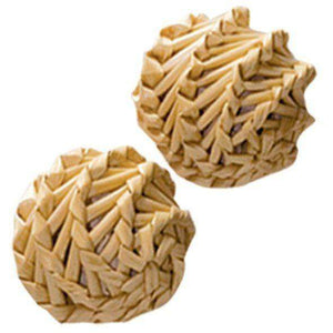 Kong Cat Naturals Straw Ball  Cat Toys - PetMax