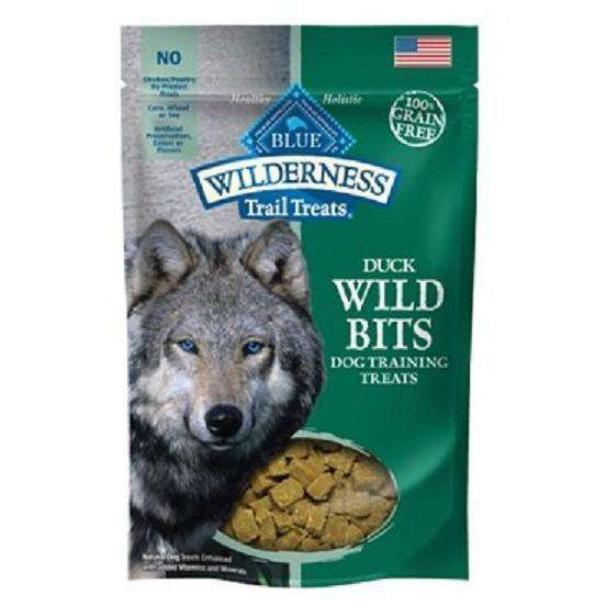Blue Wilderness Dog Wild Bits Duck  Dog Treats - PetMax