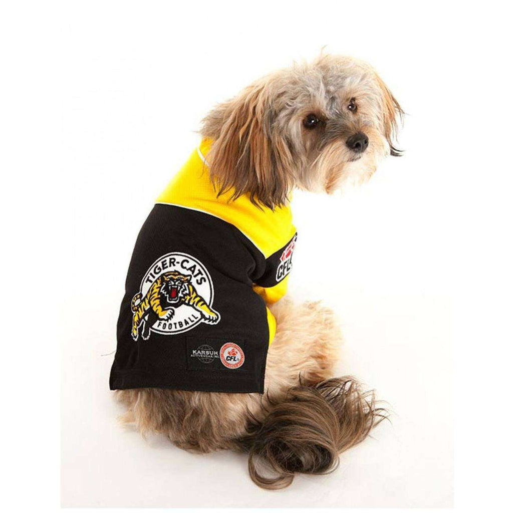 CFL Tiger Cats Dog Jersey  Dog Clothing - PetMax