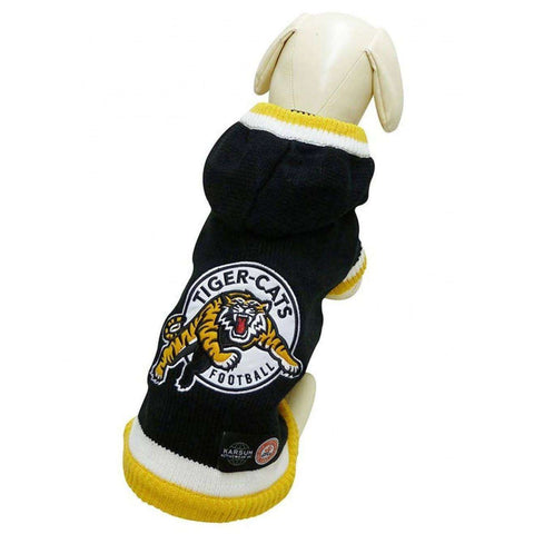 CFL Sweater Hamilton Tiger Cats, Dog Clothing, Spring Collection - PetMax