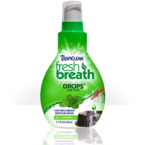 Tropiclean Fresh Breath Drops For Dogs, Health Care, TropiClean Pet Products - PetMax Canada