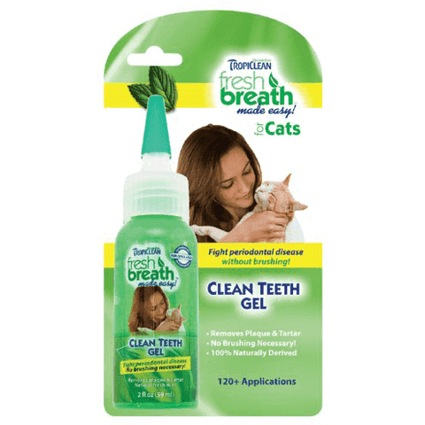 Tropiclean Cat Fresh Breath Clean Teeth Gel, Cat Health Care, TropiClean Pet Products - PetMax
