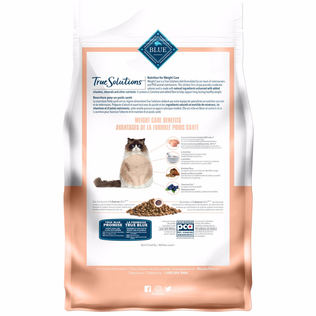 Blue True Solutions Cat Food Weight Care [variant_title] [option1] | Dry Cat Food Blue Buffalo -  PetMax.ca