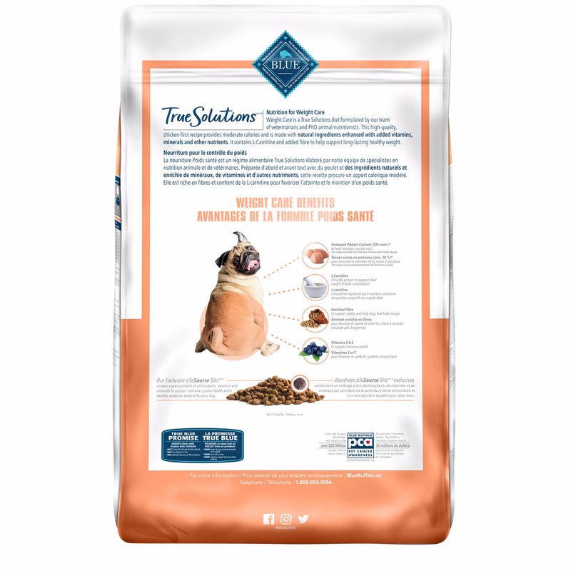 Blue True Solutions Dog Food Weight Care [variant_title] [option1] | Dog Food Blue Buffalo -  PetMax.ca