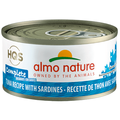Almo Nature Complete Tuna With Sardines In Gravy  Canned Cat Food - PetMax