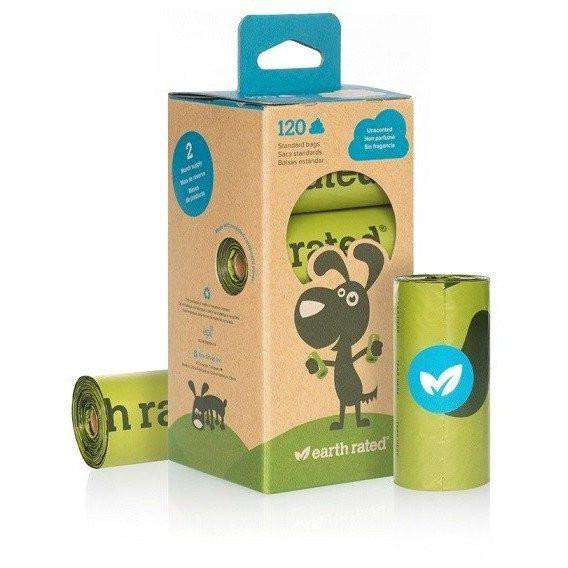 Earth Rated Eco-Friendly Unscented Poop Bags 120 Bags Waste Management - PetMax