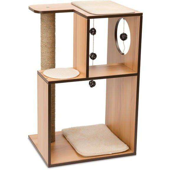 Vesper Cat V-Box Large Walnut | Cat Scratching Posts -  pet-max.myshopify.com