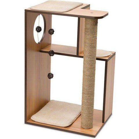 Vesper Cat V-Box Large Walnut, Cat Scratching Posts, Rolf C. Hagen - PetMax