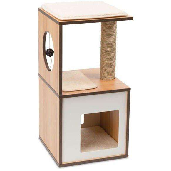 Vesper Cat V-Box Small Walnut | Cat Scratching Posts -  pet-max.myshopify.com