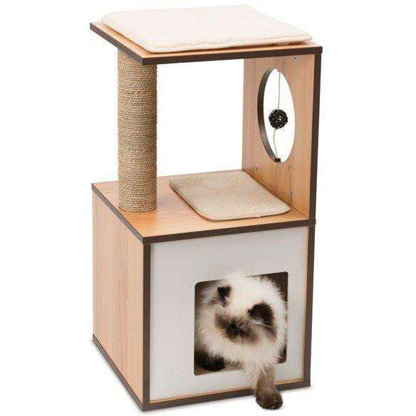 Vesper Cat V-Box Small Walnut Cat Scratching Posts [variant_title] [option1] - PetMax.ca