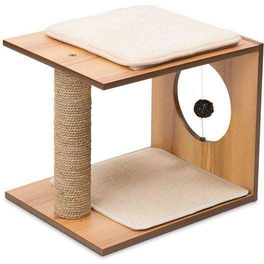 Vesper Cat Stool Walnut Cat Scratching Posts [variant_title] [option1] - PetMax.ca