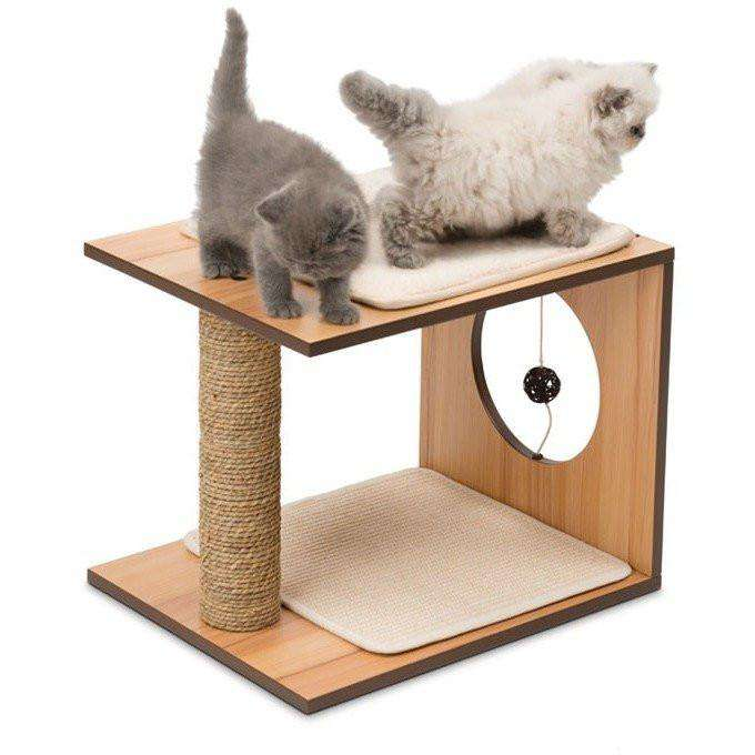 Vesper Cat Stool Walnut | Cat Scratching Posts -  pet-max.myshopify.com